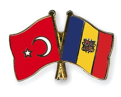 Crossed Flag Pins Turkey-Andorra