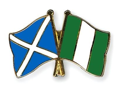 Special Offer Crossed Flag Pins Scotland-Nigeria
