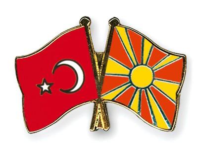 Crossed Flag Pins Turkey-Macedonia