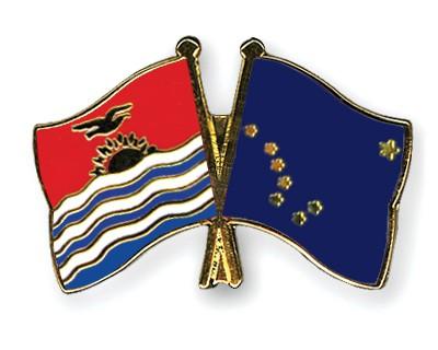 Crossed Flag Pins Kiribati-Alaska
