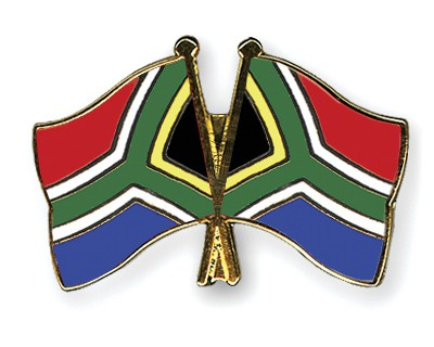 Crossed Flag Pins South-Africa-South-Africa