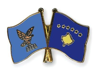 Crossed Flag Pins Friuli-Venezia-Giulia-Kosovo