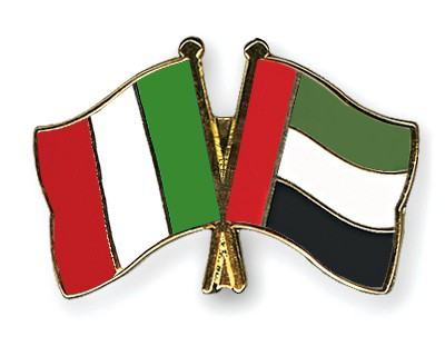 Special Offer Crossed Flag Pins Italy-United-Arab-Emirates