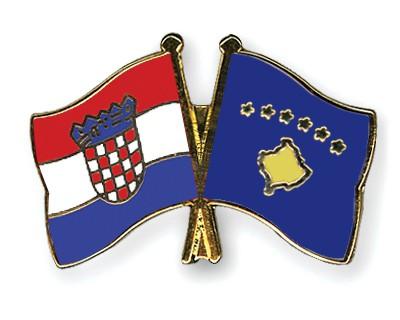 Crossed Flag Pins Croatia-Kosovo