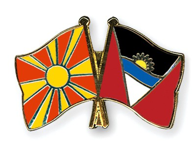 Crossed Flag Pins Macedonia-Antigua-and-Barbuda