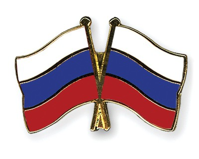 Crossed Flag Pins Russia-Russia