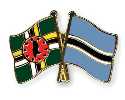 Crossed Flag Pins Dominica-Botswana