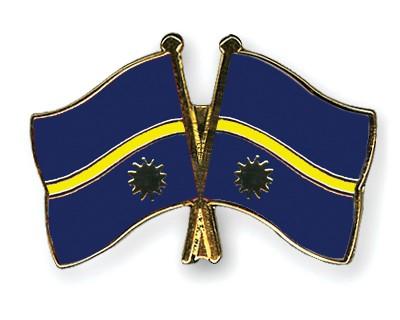 Crossed Flag Pins Nauru-Nauru