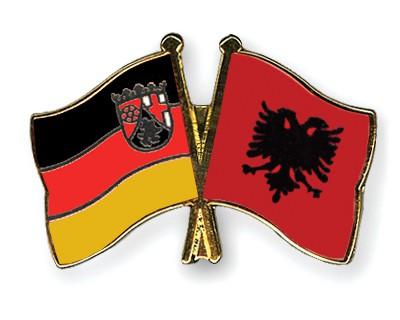 Crossed Flag Pins Rhineland-Palatinate-Albania