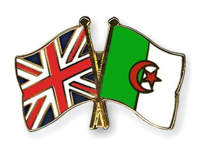 Crossed Flag Pins Great-Britain-Algeria