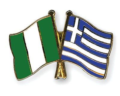 Special Offer Crossed Flag Pins Nigeria-Greece