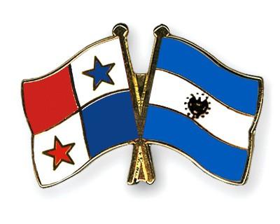 Crossed Flag Pins Panama El Salvador