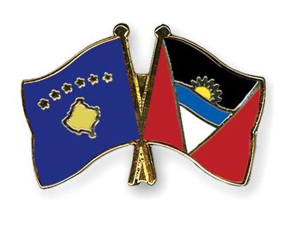 Crossed Flag Pins Kosovo-Antigua-and-Barbuda