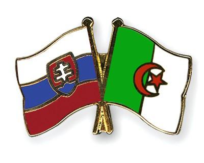 Crossed Flag Pins Slovakia-Algeria