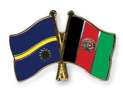 Crossed Flag Pins Nauru-Afghanistan