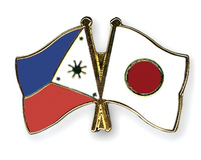 Crossed Flag Pins Philippines-Japan