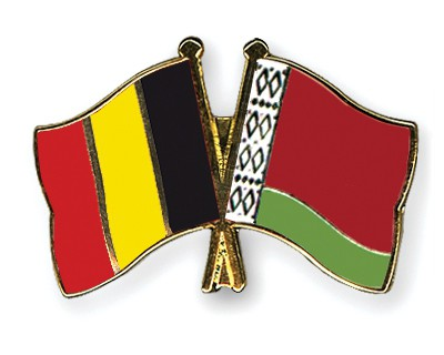Special Offer Crossed Flag Pins Belgium-Belarus