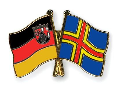Crossed Flag Pins Rhineland-Palatinate-Aland