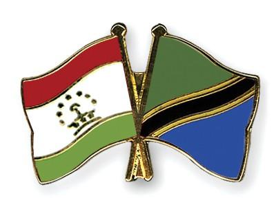Crossed Flag Pins Tajikistan-Tanzania