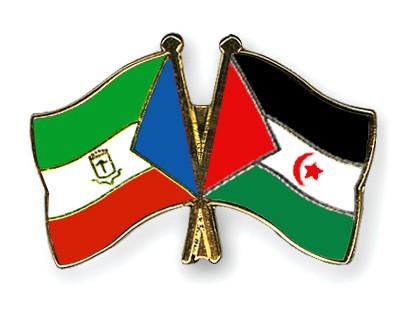 Crossed Flag Pins Equatorial-Guinea-Western-Sahara