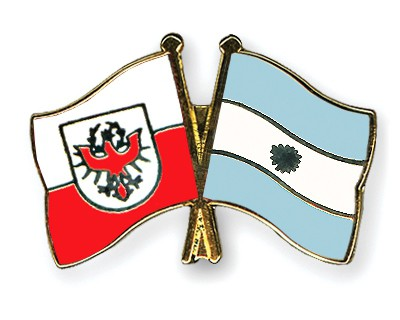 Crossed Flag Pins Tyrol-Argentina