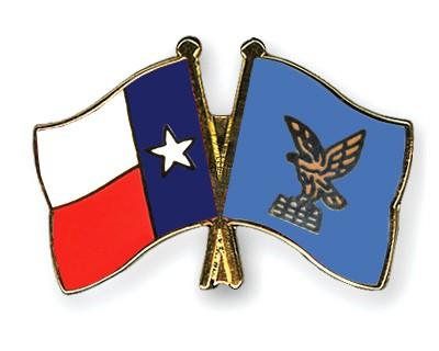 Crossed Flag Pins Texas-Friuli-Venezia-Giulia