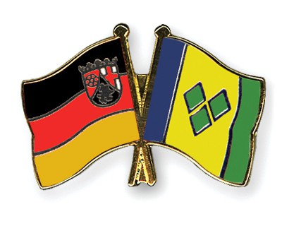 Crossed Flag Pins Rhineland-Palatinate-Saint-Vincent-and-the-Grenadines