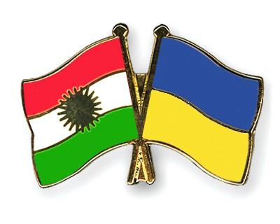 Crossed Flag Pins Kurdistan-Ukraine