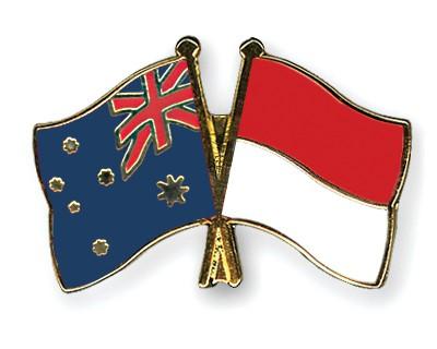 Crossed Flag Pins Australia-Indonesia