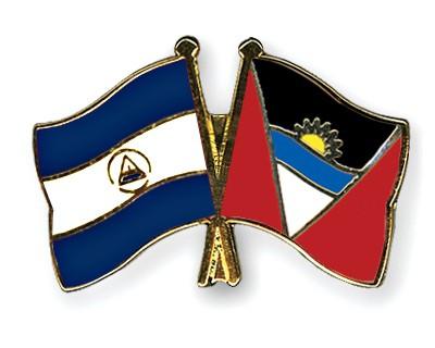Crossed Flag Pins Nicaragua-Antigua-and-Barbuda