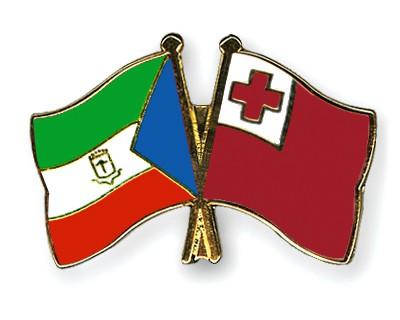 Crossed Flag Pins Equatorial-Guinea-Tonga