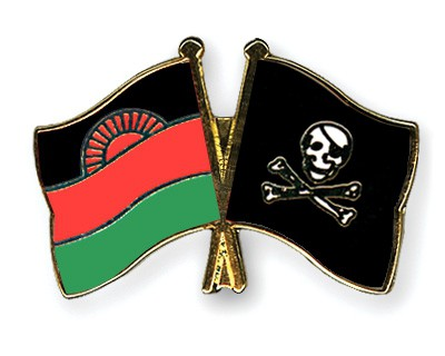 Crossed Flag Pins Malawi-Pirate-with-Bone
