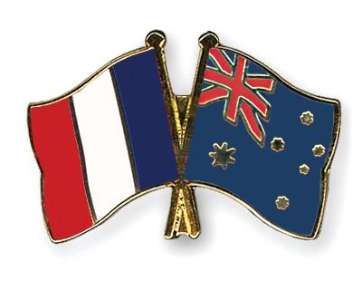 Crossed Flag Pins France-Australia