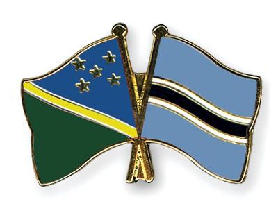 Crossed Flag Pins Solomon-Islands-Botswana