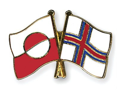 Special Offer Crossed Flag Pins Greenland-Faore Islands