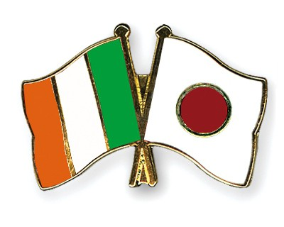 Special Offer Crossed Flag Pins Ireland-Japan