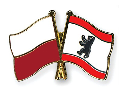 Crossed Flag Pins Poland-Berlin