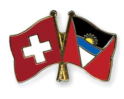 Crossed Flag Pins Switzerland-Antigua-and-Barbuda