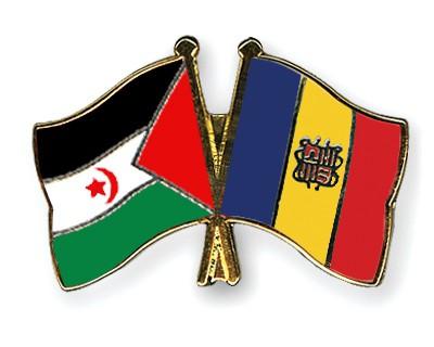 Crossed Flag Pins Western-Sahara-Andorra