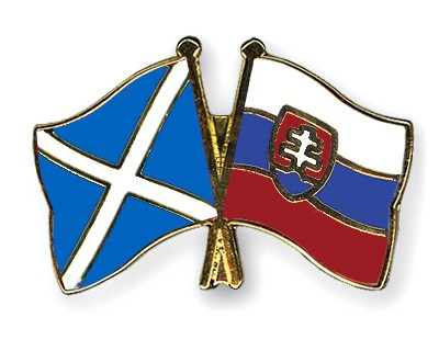 Crossed Flag Pins Scotland-Slovakia
