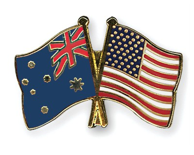 Special Offer Crossed Flag Pins Australia-USA