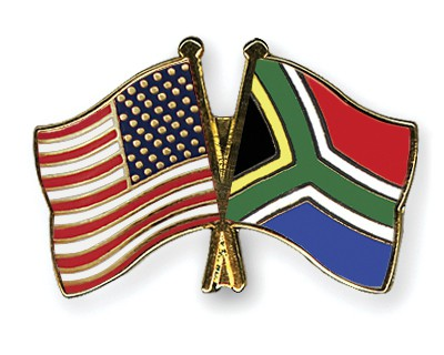 Crossed Flag Pins USA-South-Africa