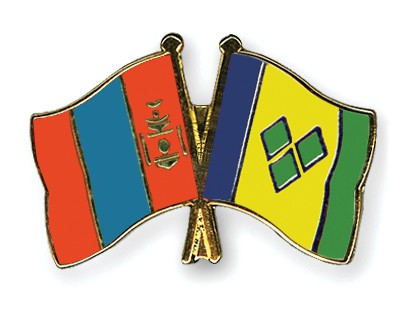 Crossed Flag Pins Mongolia-Saint-Vincent-and-the-Grenadines