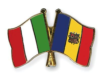 Crossed Flag Pins Italy-Andorra