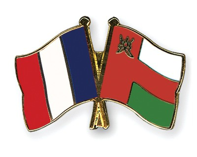 Special Offer Crossed Flag Pins France-Oman