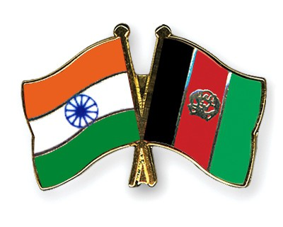 Crossed Flag Pins India-Afghanistan