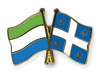 Crossed Flag Pins Sierra-Leone-Quebec