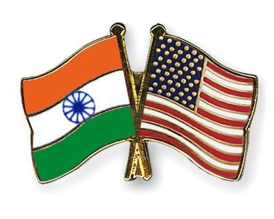 Crossed Flag Pins India-USA
