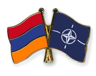 Crossed Flag Pins Armenia-NATO