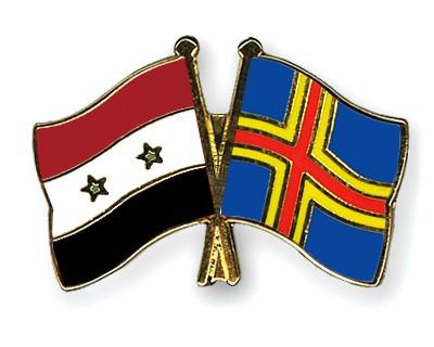 Crossed Flag Pins Syria-Aland
